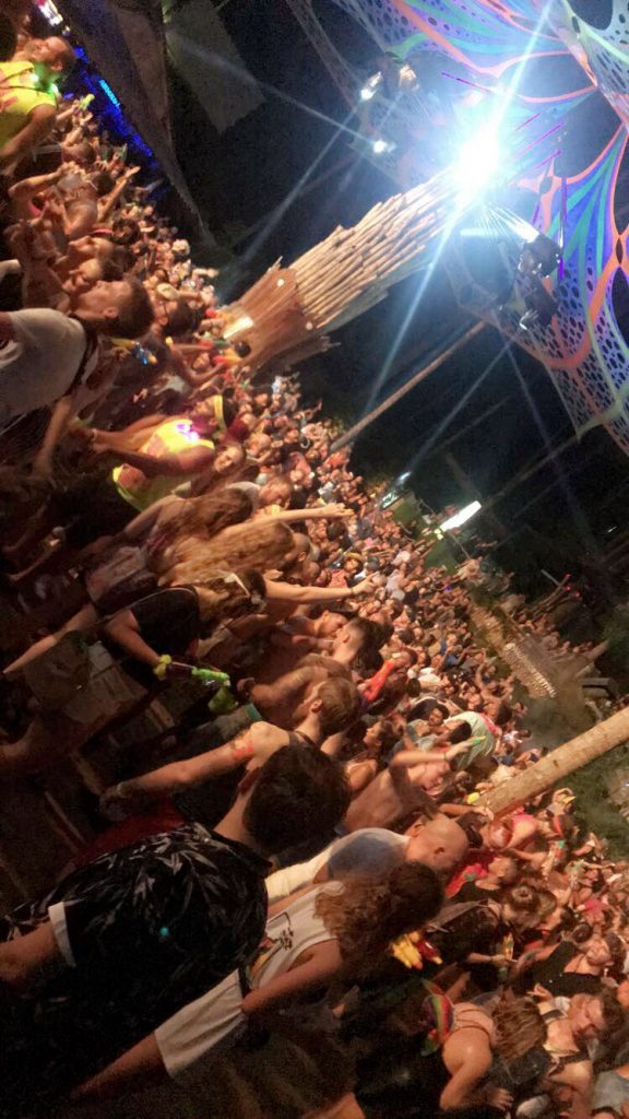 Crowd at Main Stage Half Moon Party